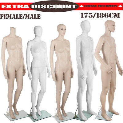 Male Female Mannequin Full Body Clothes Display Model Fashion Window Showcase TT