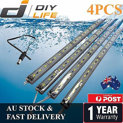 4X12V Waterproof Cool White 5630 Camping  Led Strip Lights Bars Caravan Boat Car