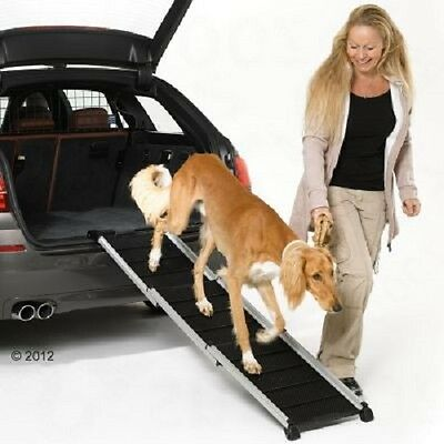 Dog Ramp Car Space Saving Telescopic Aluminium Dogs up to 85kg Old Young Puppy