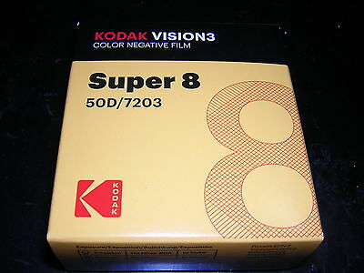 Super 8mm NIB Kodak Vision 3 50D Super 8mm Color Negative Film 50D/7203 Roll