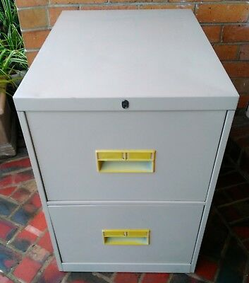 Two drawer steel filing cabinet (2)
