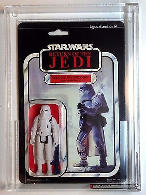 Vintage Star Wars Rotj Imperial Stormtrooper Hoth Afa 85 85/85/85 Clear Bubble