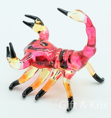 Figurine Animal Hand Blown Glass Insect Scorpion - GTSP008