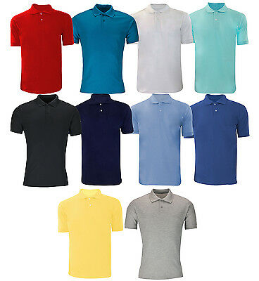 Plain Polo Shirts Short Sleeve S M L XL XXL