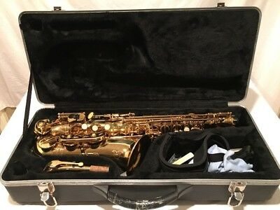 MBAT Alto Saxophone All Gold Beginner Student Model Everything Included To Play