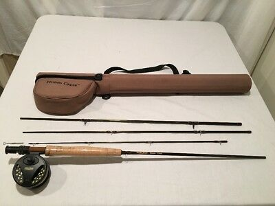 White River HC II Fly Rod And Reel Set Up With Hard Case HC#5 Rod Has Broken Tip