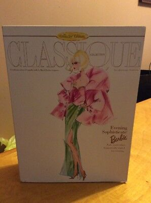 CLASSIQUE COLLECTION EVENING SOPHISTICATE BARBIE  By  ROBERT BEST 1998 Bx 33