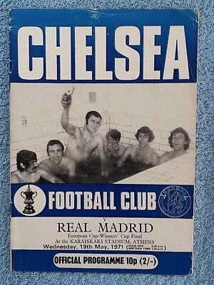 1971 - CUP WINNERS CUP FINAL PROGRAMME - CHELSEA v REAL MADRID - CHELSEA EDITION