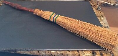 Hand Carved Handmade Wood Hearth Witches Broom Or Decorative Fireplace Broom