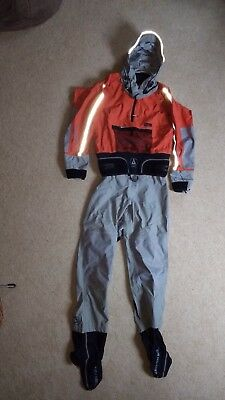 Man's medium Peak Explorer one-piece drysuit. Breathable endurable X4 nylon.