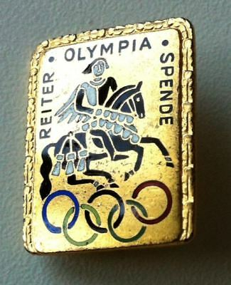 REITER OLYMPIA SPENDE Abzeichen/Brosche/olympic pin badge emailliert [5759]