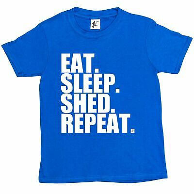 Eat. Sleep. Shed. Repeat. Rugby Fan World Cup Kids Boys / Girls T-Shirt