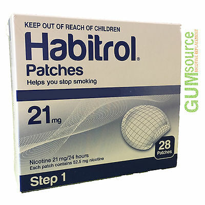 Habitrol Step 1 Nicotine Transdermal Patch 21mg, 1 DENTED box 28 patches