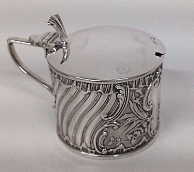 EDWARDIAN Solid Silver Mustard Pot HM SHEFFIELD 1909 ART NOUVEAU DESIGN