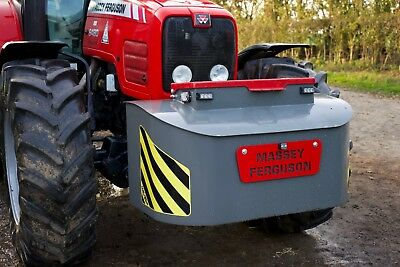Tractor Weight / Tool Box Plate Sign with centre whip clamp - Massey Fergusson