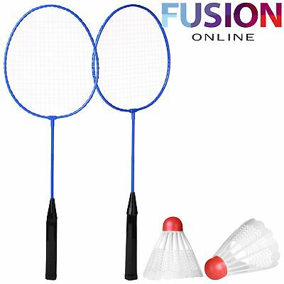2 Player Badminton Set With Shuttlecock Outdoor Garden Game Sport Family Kids