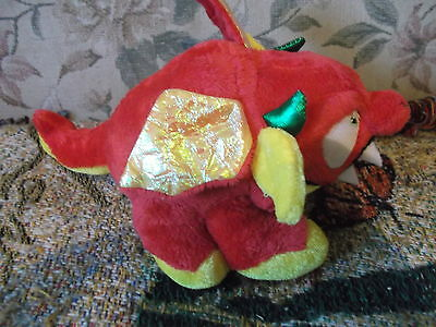 "8.5"" red & yellow plush flying monster dragon by Nanco 2011 with tags"