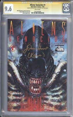 Aliens: Genocide 1 CGC SS 9.6 signed by RIDLEY SCOTT & JOHN HURT