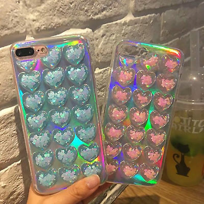 For iPhone 8/6s Plus/7 Plus 3D Cute Bling Crystal Case Cover Soft Rubber GEL TPU