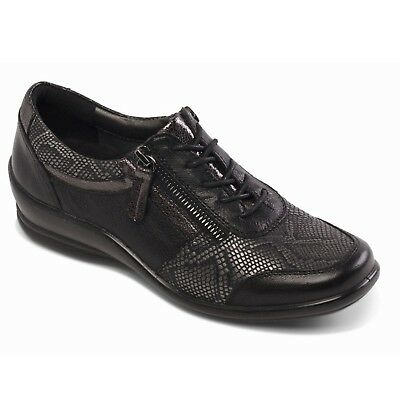 Padders Steffi Smart And Comfortable Flexible Lace Up Shoes With Side Zip