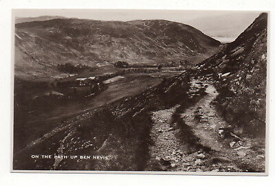 "Vintage Postcard ""On The Path Up Ben Nevis"" Unposted 1932"