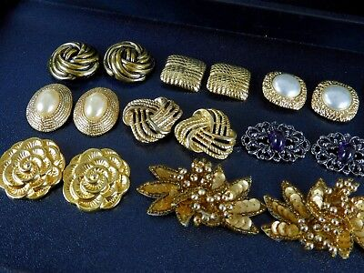 Vintage /Now Shoe Clips Lot Mixed Accessories Pearls Beaded Gold Tone Enamel 586