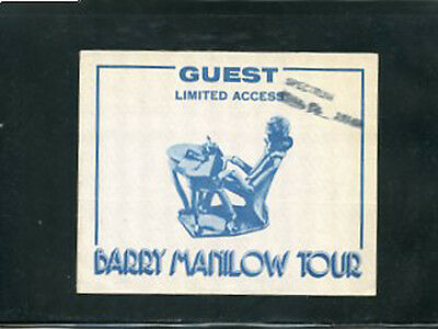 Barry Manilow - backstage pass 1978 Guest access