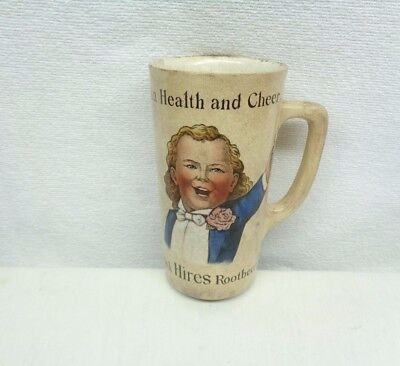 Antique 1890's Hires Root Beer Mug Made in Germany: Villeroy & Boch, Mattlach