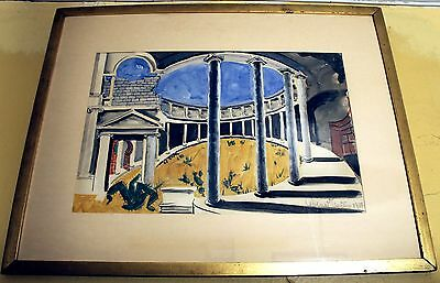 Angna Enters Painting 1933 Scenic Design for LOVE POSSESSED JUANA