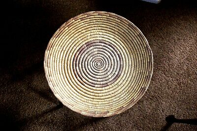 """""""JICARILLA APACHE"""" - TRADITIONAL INDIAN COIL BASKET - 15 3/4"""" New Mexico"""