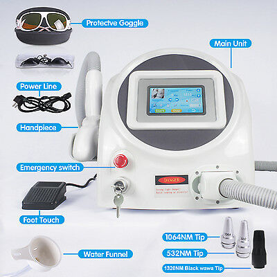 New faster Tattoo removed machine Q-switched ND: YAG 1064nm 532nm laser machine