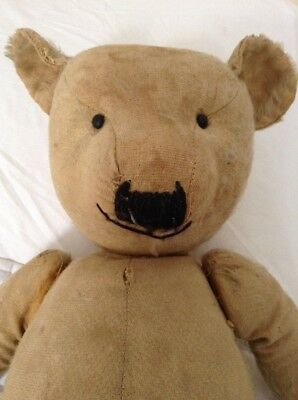 Antique Vintage Old Teddy Bear - Approx 24 Inches