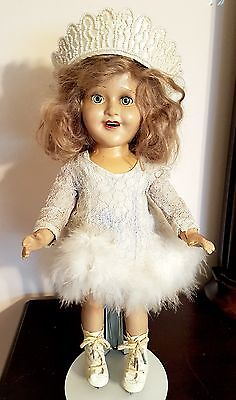 "Vintage Barbara Ann Scott Olympic Skater 1950 Reliable Composition 15"" Doll Htf"