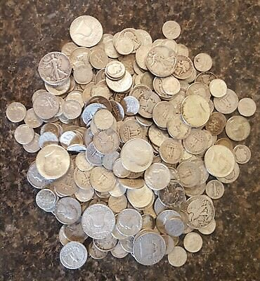 1 Troy Ounce of 90% Junk Silver Coins Lot - Pre-1964, NO NICKELS!