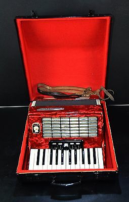 VINTAGE TOP GERMAN PIANO ACCORDION WELTMEISTER STELLA 40bass&CASE~1001accordions