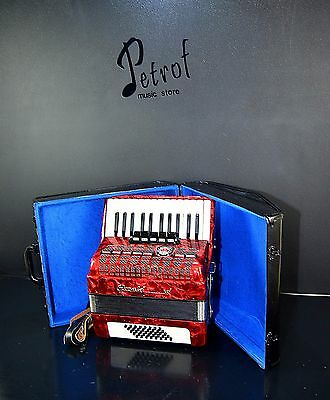 RARE TOP GERMAN PIANO ACCORDION ROYAL STANDARD-WELTMEISTER METEOR 40 bass, 5 sw.