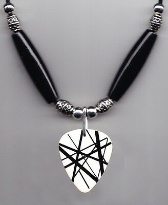 Eddie Van Halen White/Black Frankentrat Guitar Pick Necklace - 2012 Tour