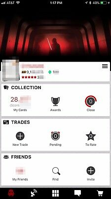 Massive Topps Star Wars Card Trader SWCT Account including over 16.7M credits