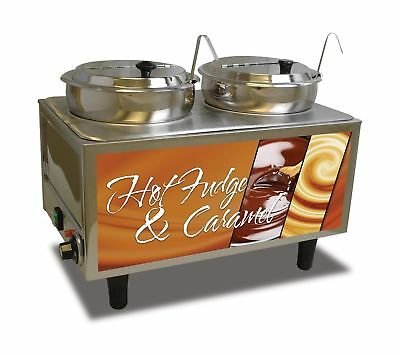 "Benchmark USA 51072H Hot Fudge/Caramel Warmer 17"" H 13"" W 21"" L Stainless Steel"