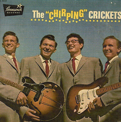 """**ORIGINAL**Buddy Holly """"The Chirping Crickets"""" LP Textured Jacket BL54038"""