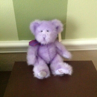 """RUSS BERRIE and Co.*Aphrodite* Lavender Plush  7"""" Bear *NWT*"""