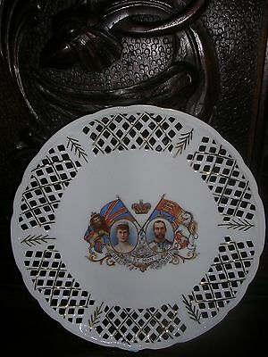 Antique Austrian Plate Coronation Of King Geroge & Queen Mary 1911