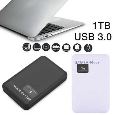 SATA USB 3.0 1TB External Mobile Hard Disk Drive Memory Read HDD Laptop