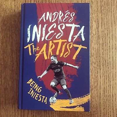 Hand Signed Andres Iniesta Autobiography