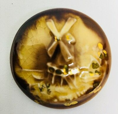 Vintage 1970's Porcelain Windmill Pin. Good Vintage.