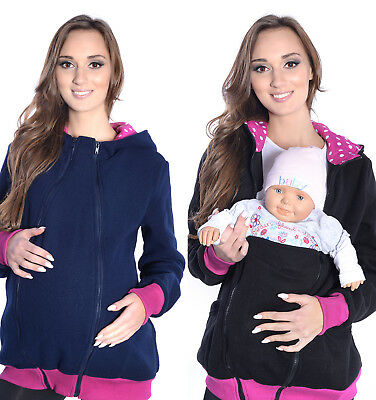 Mija/ 3 in1 Maternity Fleece Hoodie Pullover for Babywearing BABY CARRIERS 4056