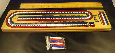 Bicycle Brand Folding Cribbage Board with Pegs.