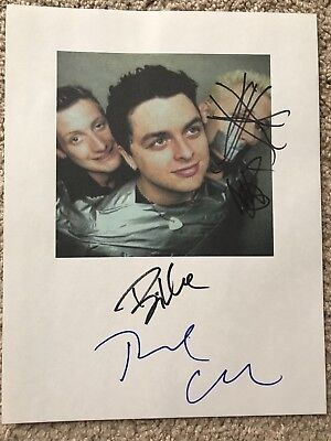 GREEN DAY SIGNED IN PERSON PICTURE 1998 VINTAGE AUTOS PUNK ROCK rare