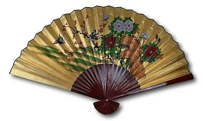 Vintage Classic Extra Large 170cm Hand-painted Chinese Decorative Wall Fan,