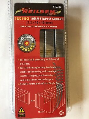 1250 Piece 10mm Staples Square 1.2x10x10.6mm